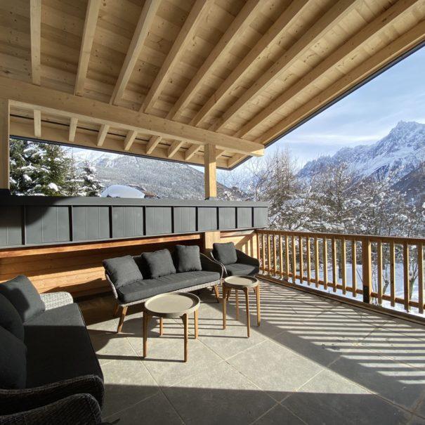 Terrasse couverte gite
