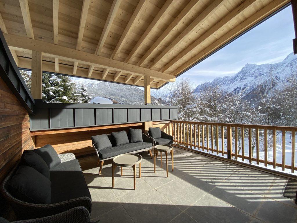 Terrasse couverte hiver